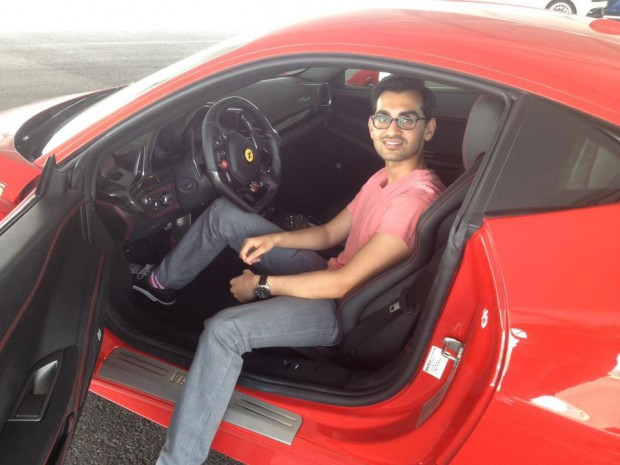 Neil Patel in His Car