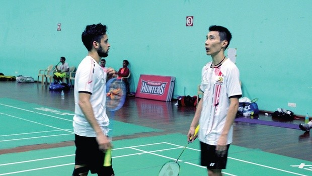 Lee Chong Wei with Indian Badminton Player Parupalli Kashyap