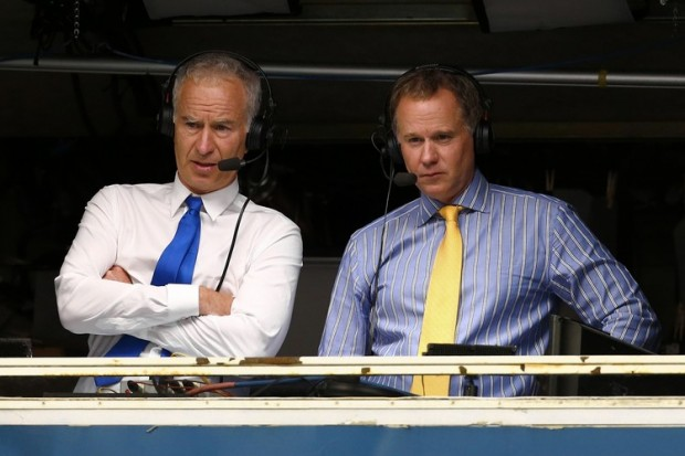 Patrick and Mcenroe at Conference