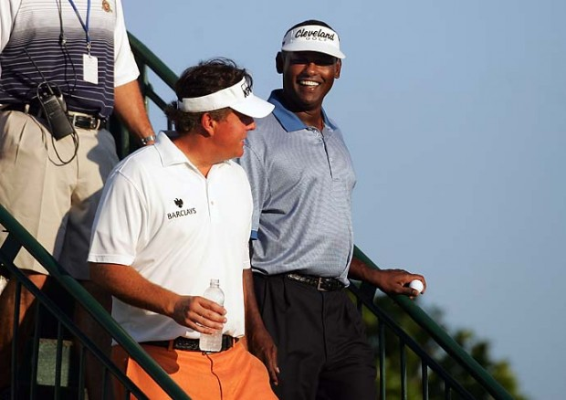 Phil Mickelson and Vijay Singh