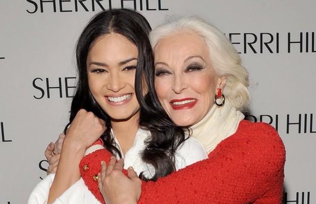 Pia Wurtzbach with Legend Super Model Carmen
