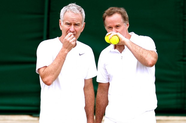 Picture of John Mcenroe With His Brother Patrick