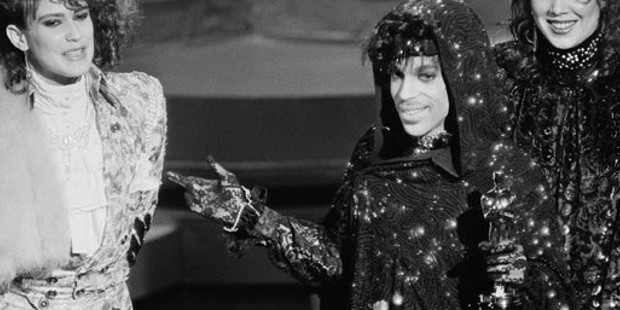 Prince with his Academy Award