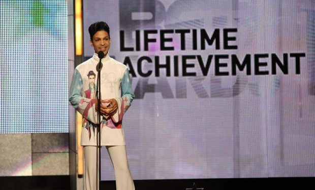 Prince during his BET Lifetime Achievement Award