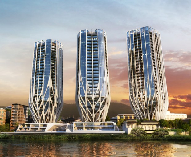 Residential Towers on Brisbane Riverfront