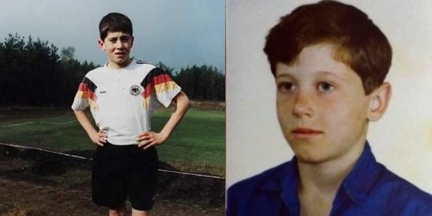 Robert Lewandowski in his childhood