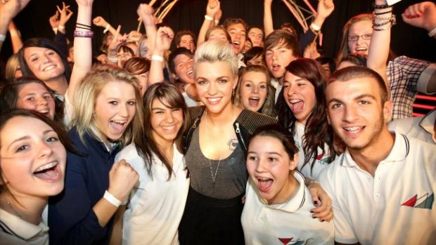 Ruby Rose at Essendon Keilor Collge
