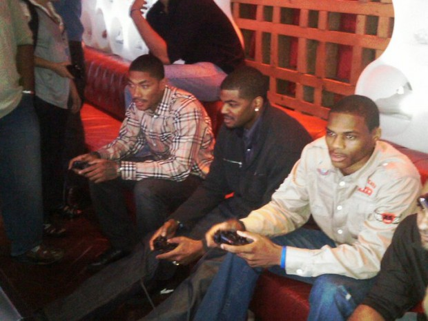 Derrick with Russ and Josh at the NBA 2K11 Launch Party