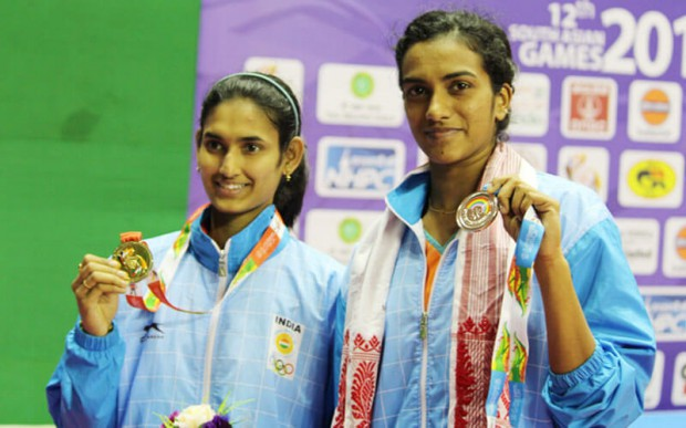 Young sensation Ruthvika Shivaniand with PV Sindhu