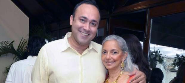 Sabeer Bhatia with Monica Vaziralli