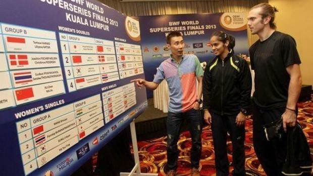 Saina Nehwal with Lee Chong Wei