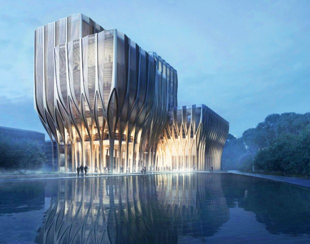 Zaha Hadid's Architect Beauty, Sleuk Rith Institute