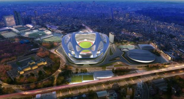 Spaceship Model of Olympic Stadium in Tokyo