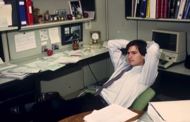 Young Steve Jobs in His Cabin