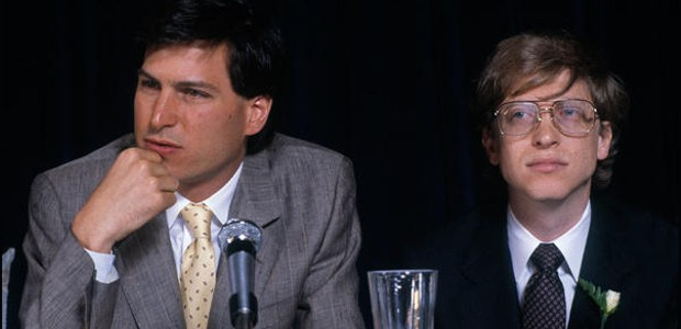 Steve Jobs with Microsoft Founder Bill Gates