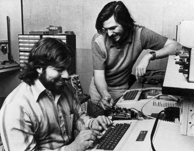 Steve Jobs with Steve Woznaik