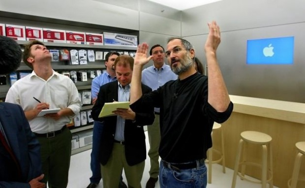 Steve Jobs at Ministore Launch
