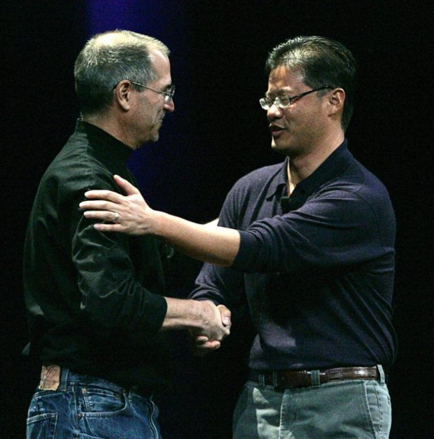 Jerry Yang with Apple Founder Steve Jobs