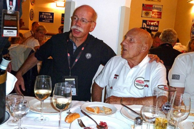 Dieter Zetsche with Stirling Moss