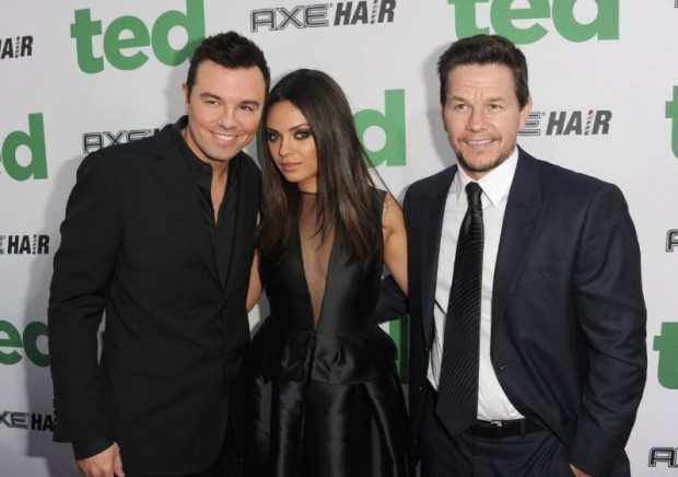 Mark Wahlberg, Mila Kunis and Seth MacFarlane at event of Ted