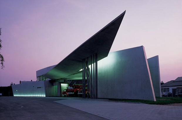 The Vitra Fire Station Designed By Zaha Hadid