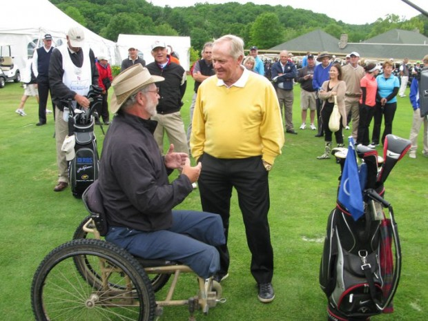 Jack Nicklaus with Mike Reeder at Vince Gill's charity tournament