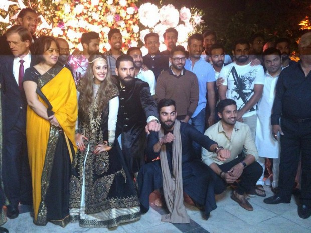 Virat Kohli and Indian Team at Yuvraj Singh Wedding Party
