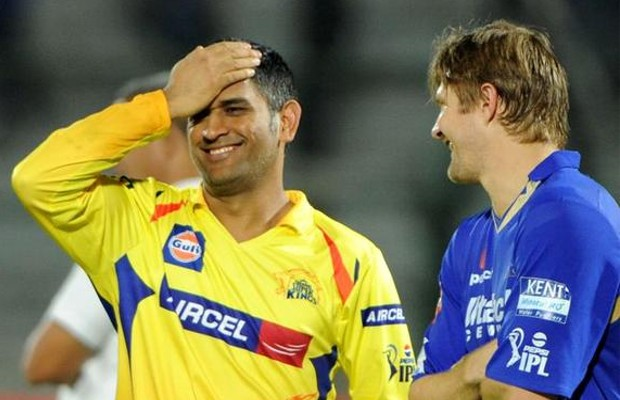 MS Dhoni Having a Funny Conversation with Shane Watson