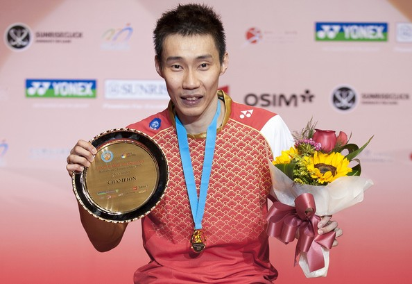 Lee Chong Wei with Yonex-Sunrise Hong Kong Open Badminton Championship 2013