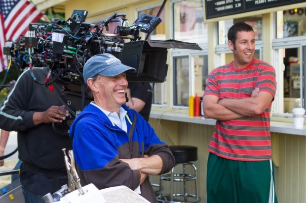 Adam Sandler and Dennis Dugan in Grown Ups 2