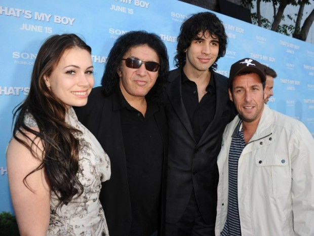 Adam Sandler, Gene Simmons and Nick Simmons at event of That's My Boy