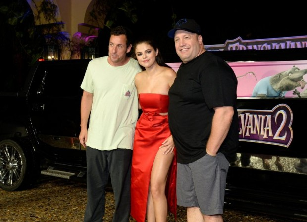 Adam Sandler, Kevin James and Selena Gomez