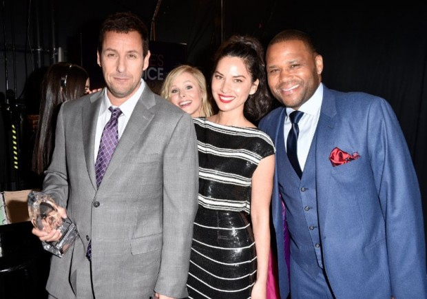 Adam Sandler with Anthony Anderson, Kristen Bell and Olivia Munn