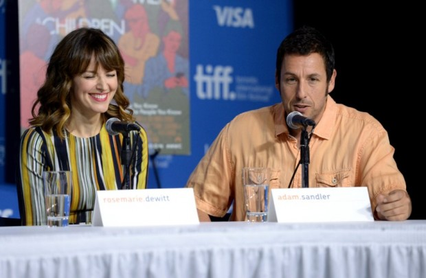 Adam Sandler and Rosemarie DeWitt at event of Men, Women & Children