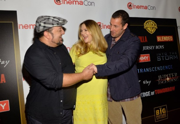 Adam Sandler with Drew Barrymore and Frank Coraci