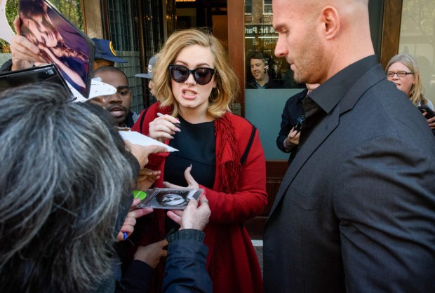 Adele signing to her fans