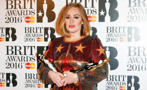 Adele with her Brit Awards