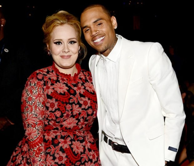 Adele with Chris Brown