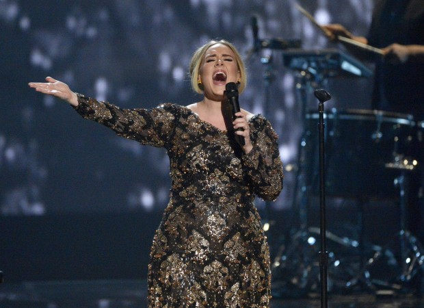 Adele singing in New York Concert