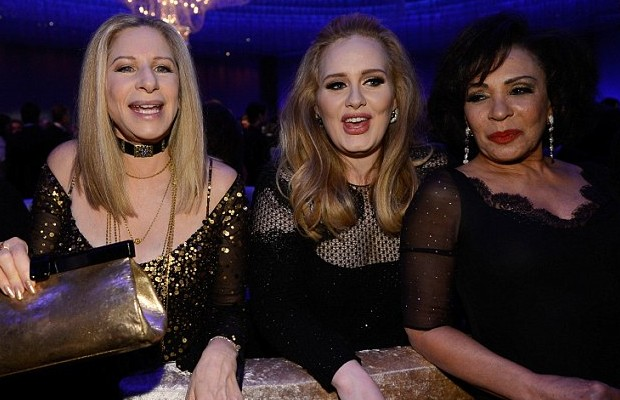 Adele joined her older contemporaries Barbra Streisand and Dame Shirley Bassy