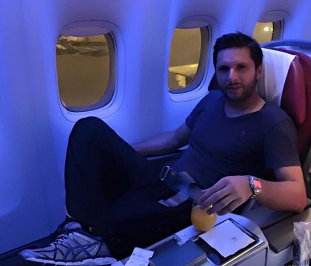Afridi in a Flight