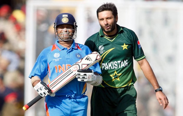 Afridi and Sachin
