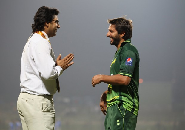 Wasim Akram Having Fun with Shahid Afridi