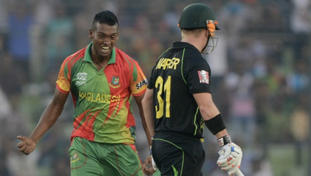 Al Amin Hossain Playing against Australia