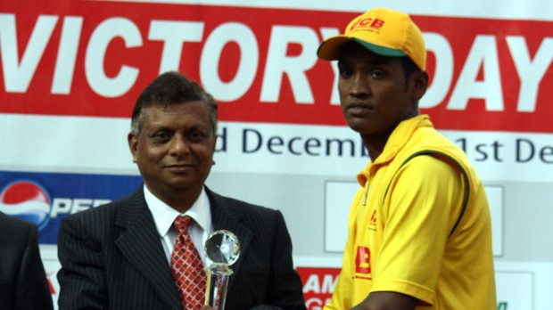 Al Amin Hossain Receives the Man of the Match award