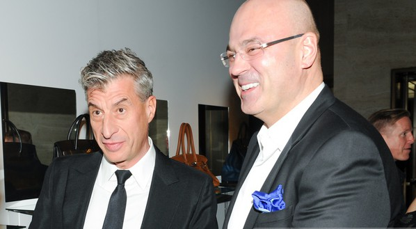 Alexey with Maurizio Cattelan