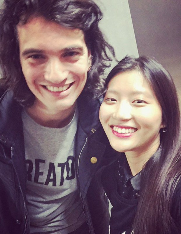 Jeanette with Adam Neumann during London Launch Party