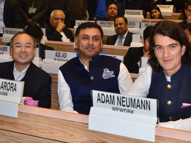 Adam Neumann with Softbank CEO and President at Startup India