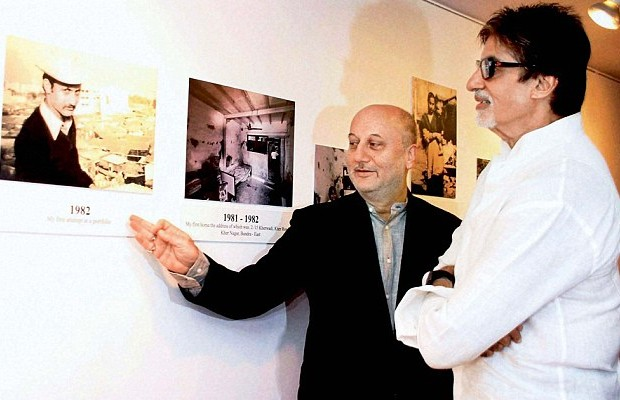 Anupam Kher and Amitabh Bachchan
