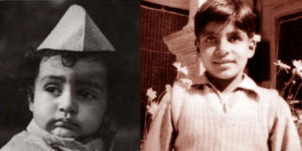 Amitabh in his childhood
